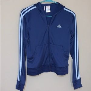 Hooded Zip Up Adidas Sweatshirt/Track Suit